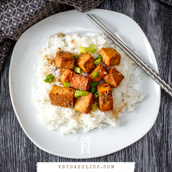 Vegan Honey Sesame Tofu