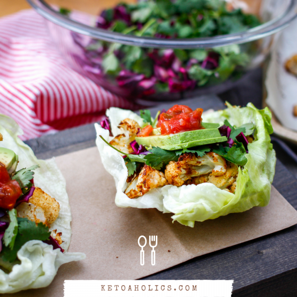 Vegan Cauliflower Taco Wrap