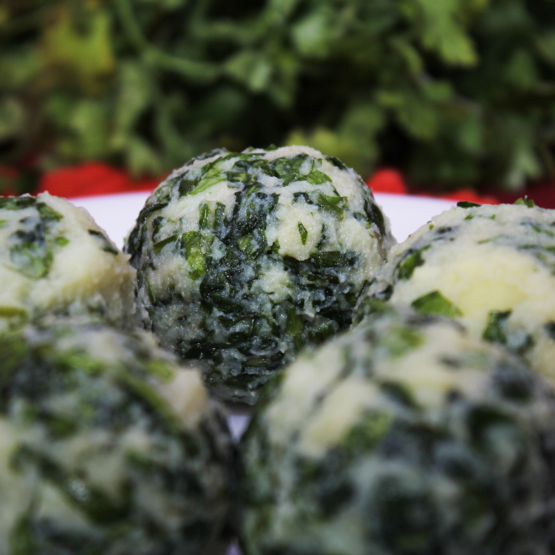 Step 3 of making Healthy Keto Spinach Balls(Vegan Recipe)