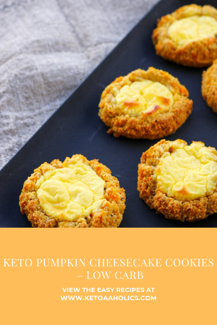 KETO PUMPKIN CHEESECAKE COOKIES – LOW CARB - KetoaHolics.com
