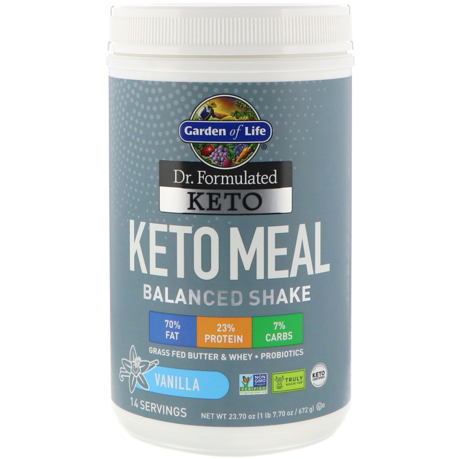 Keto Meal: Garden of Life Dr. Formulated Keto Meal Balanced Shake