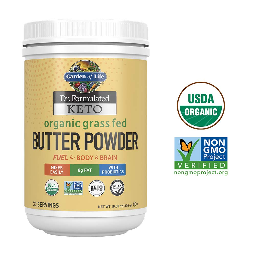 Butter Powder: Garden of Life Dr. Formulated Keto Grass-Fed Butter Powder