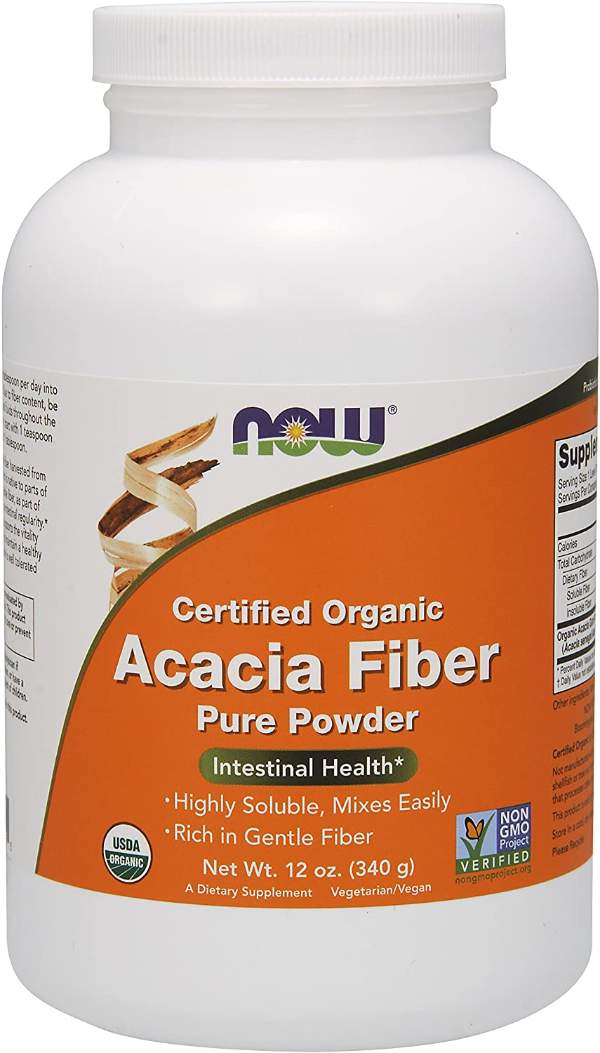NOW Supplements Acacia Fiber Powder (Editor's Choice)