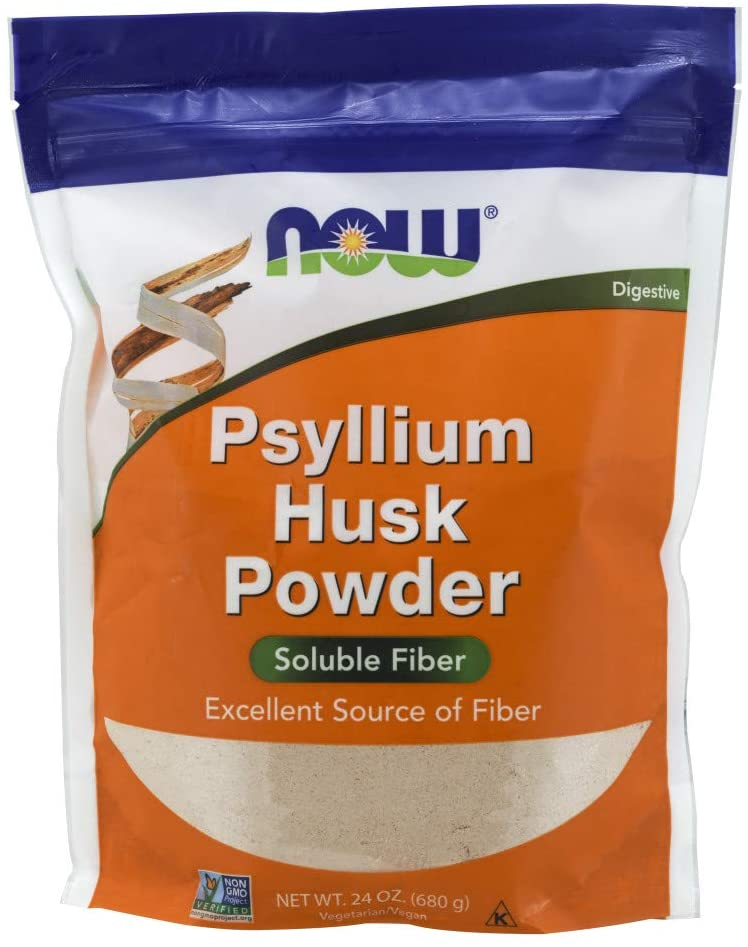 NOW Fiber Supplements Psyllium Husk Powder