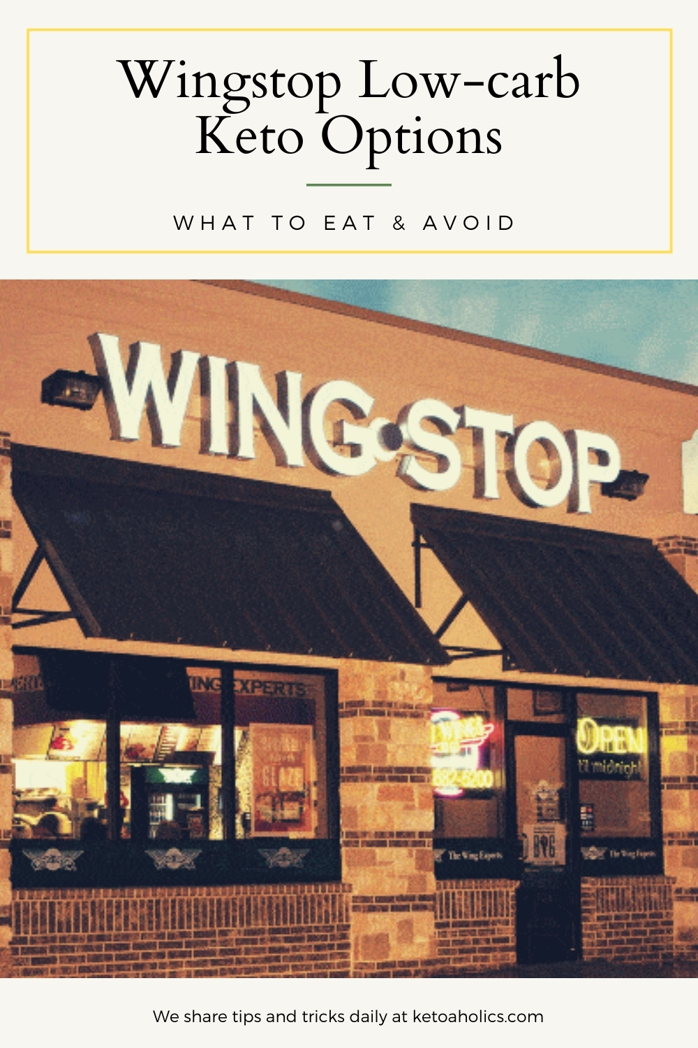Wingstop Low Carb Options_ What To Eat & Avoid - KetoaHolics.com
